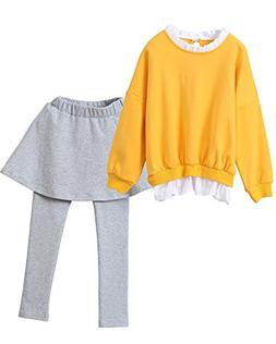 Ancia Little Girls Toddler Kids Sweatshirt Leggings Dress Pa