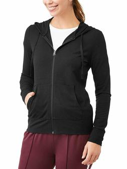 Athletic Works Womens French Terry Hoodie Pockets Zip-up FRE