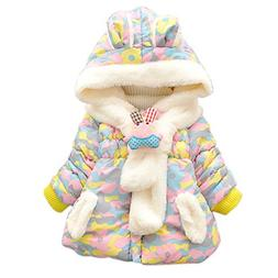 Baby Girls Infant Winter Rabbit Hood Outerwear Hoodie Coats