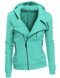 DOUBLJU WOMEN'S FLEECE ZIP UP HOODIE,CHECK FOR COLORS & SIZE