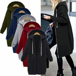 Fashion Women Winter Hooded Trench Coat Warm Parka Overcoat