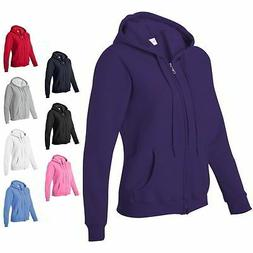 Gildan Heavy Blend Missy Fit Full Zip Up Womens Hoodie Sweat