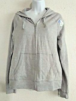 Hanes Women's French Terry Zip Up Hoodie, Light Grey, Size S