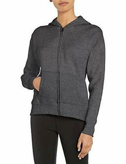 Hanes Women's Full-Zip Hooded Jacket Slate Heather Large