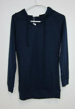 J. Tomson Pullover Hoodie - Womens XS - Navy - NWT