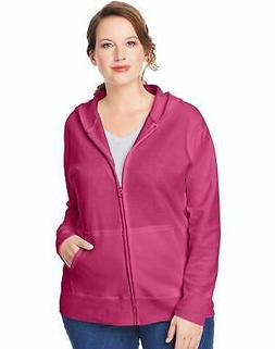 Just My Size Hoodie Women's Plus Size ComfortSoft Fleece Ful