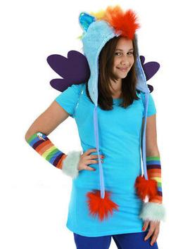 My Little Pony Rainbow Dash Hoodie Hat Costume Accessory