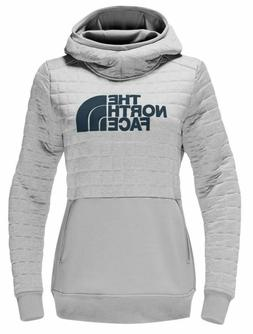 The North Face Women's Half Dome Quilted Pullover Hoodie Gre
