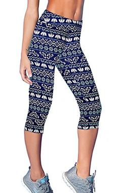 Women Girls Active Workout Capri Leggings Running Dancing Ti