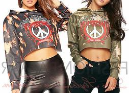 Womens Tie Dye Peace American Legend Champion Sweatshirt Hoo