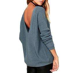 Autumn Winter Sweater Explosion Models Europe Sexy Back deep