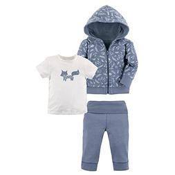 Yoga Sprout Baby 3 Piece Jacket, Top and Pant Set, Clever Fo