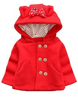 Ancia Baby Girls Double-Breasted Woolen Coat Kids Warm Jacke