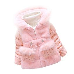 Baby Girls Infant Toddler Winter Knited Outerwear Coats Snow