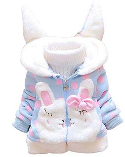 Ancia Baby Girls Infant Winter Ears Outerwear Hoodie Coat Ja