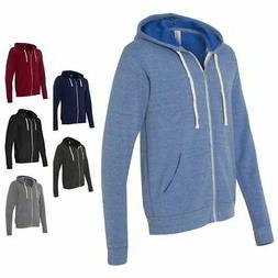 Bella + Canvas Unisex Mens & Womens Triblend Full Zip-Up Swe