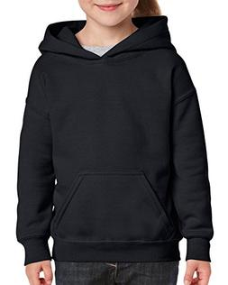 Gildan Kids' Big Hooded Youth Sweatshirt, Black, Large