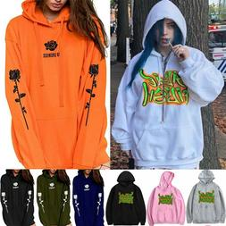 Billie Eilish Cotton Hoodie Sweatshirt Men Women Pullover Sw