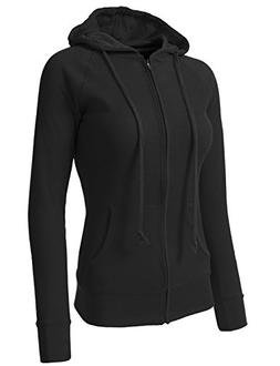NE PEOPLE Women Casual Light Weight Thermal Hoodie Medium NE