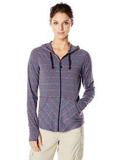 ExOfficio Women's Chica Cool Stripe Hoody Baroque, Large