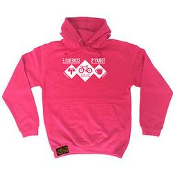 Cycling Hoodie Hoody Funny Novelty hooded Top - Todays Sched