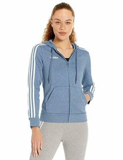 adidas Essentials Women's 3-Stripes Fleece Hoodie, Tech Ink