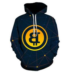 Fashion 3D Print Bitcoin Oversized Hoodies Pullover Women Me