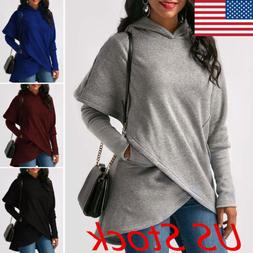 Fashion Women Casual Long Sleeve Hoodie Jumper Pullover Swea