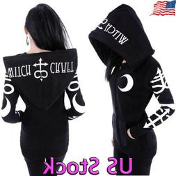 Fashion Women Witch Punk Style Sweatshirt Oversized Hoodie G
