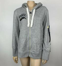 Tommy Hilfiger Flag Hoodie Women's Plus Size 1X Gray Full Zi