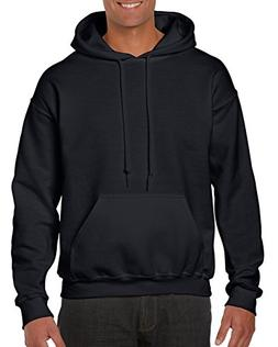 Gildan Men's Heavy Blend Fleece Hooded Sweatshirt G18500, Bl