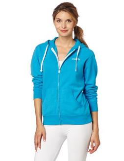 Asics Women's Fleece Hoodie, Cyan Blue, Medium