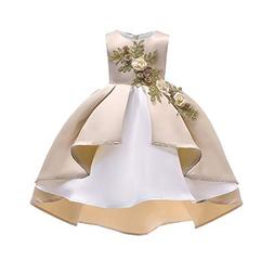 XUANOU Floral Baby Girl Princess Bridesmaid Pageant Gown Bir