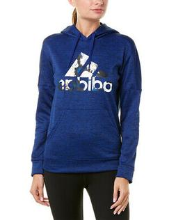 Adidas Floral Badge Of Sport Hoodie Blue Women's