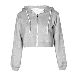 <font><b>Women</b></font> Autumn Spring Tops Drawstring Hood