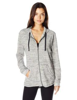 Hanes French Terry Zip Hoodie Ebony Space Dye M