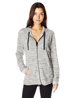 Hanes French Terry Zip Hoodie Ebony Space Dye L