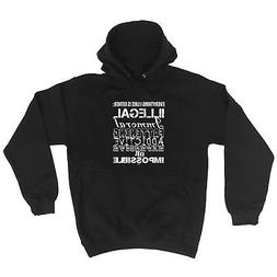 Funny Novelty Hoodie Hoody hooded Top BL126 slogan hoodies f