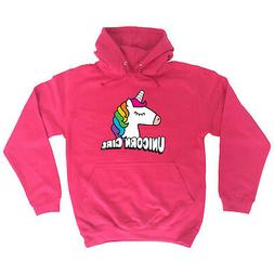 Funny Novelty Hoodie Hoody hooded Top - Unicorn Girl