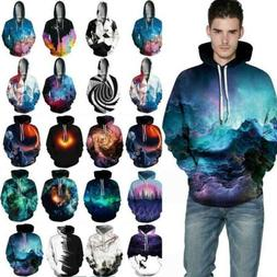Galaxy 3D Print Unisex Couple Fashion Hoodie Pullover Sweats