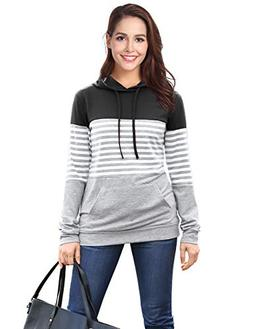 Hooded Shirts for Women, DJT Women's Hoodies Tops Long Sleev
