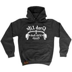 Hoodie Grab Life With Both Hands Cycling hoody bicycle funny