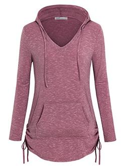 Messic Hoodies for Women Pullover, Fashion Loose Hoodies V N