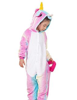 Kids Cosplay Costumes Pajamas for Kids Multi-Colors Unicorn