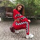 2 piece set women suit sportswear track suit crop top leggin