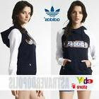 Adidas Originals BLUE TREFOIL HOODIE Jacket Women Rita Ora S