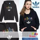 Adidas Originals Womens BLACK HOODIE Track Sweatshirt FLEECE