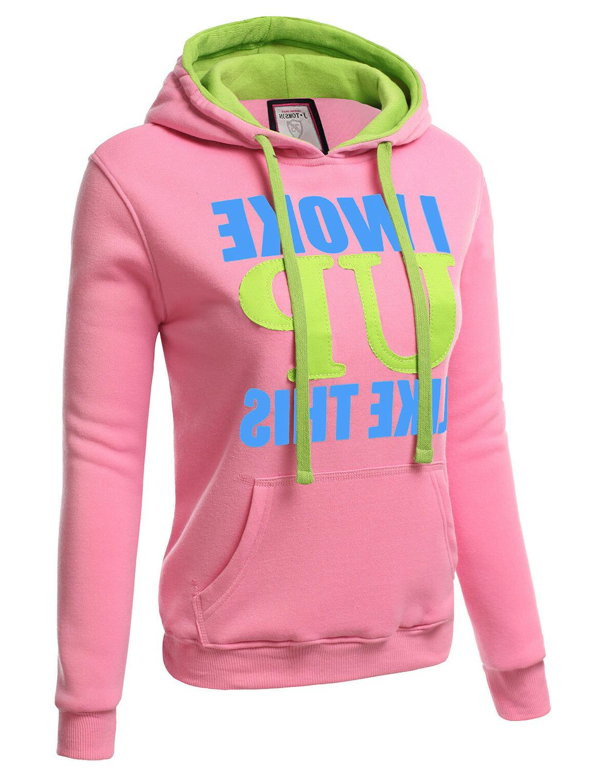 Doublju Womens Graphic Pullover