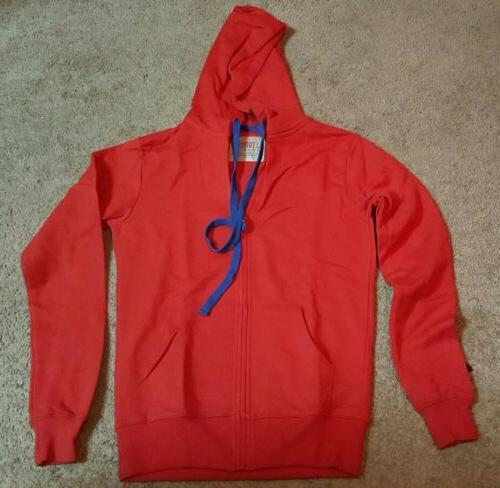 J.Tomson Doublju Ladies Zip-up Hoodie, Red n Sz. Md.