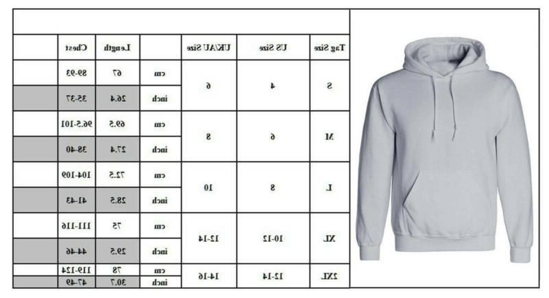 US Men Women Hoodie Hoody Cotton Plain Casual